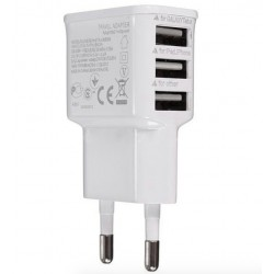 3 USB port charger - smartphone - tablet - EU plug