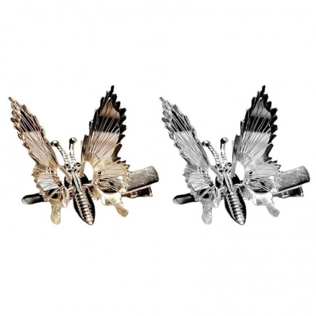 Hollow-out moving butterfly - metal hair clip