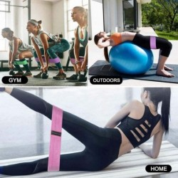 Resistance bands - rubber elastic - anti-slip - for fitness / exercise / yoga
