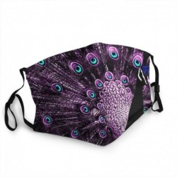 Purple peacock - adult face mask - non-disposable - washable - dust proof / anti-virus