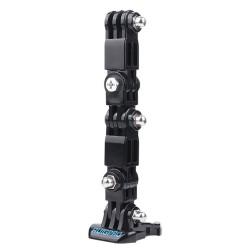 Winddichte Hülle - Helmhalterung - Schnalle - Adapter - Schwenkarm - für GoPro Hero 9/8/7/6/5 Schwarz