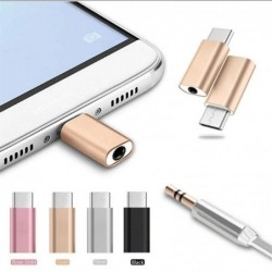 Micro USB Type-C to 3.5mm headphone jack - adapter - splitter