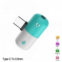 USB Typ-C - 3,5-mm-Buchse - Aux-Audio-Ladegerät - OTG-Konverter - Adapter - Kapselform