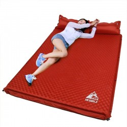 Outdoor- / Campingmatte - aufblasbare Zeltmatratze - mit Polsterauflage - doppelt