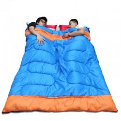 Doppelschlafsack - mit Reißverschluss - warm - wasserdicht