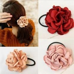 Elegantes elastisches Haarband - mit großer Rose