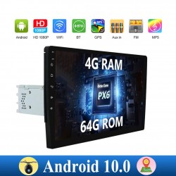 Android 10 - car radio with touch screen - 1 din - 2 din - WiFi - GPS - Bluetooth - FM - AM - RDS - SWC - DSP - 4G RAM 64G ROM