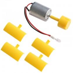 DC micro motor - LED - vertical axis - wind turbine generator blades