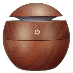Aromatherapy - wooden grain - ultrasonic USB LED air humidifier