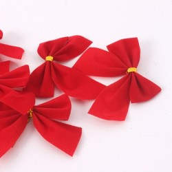 Christmas Tree Red Bowknots 12pcs