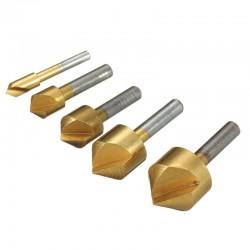 90° Single Flute Edge Chamfer Countersink Drill Bit 5pcs