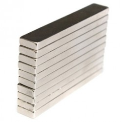 N50 - neodymium magnet - strong block - cuboid 60 * 10 * 4mm 5 pieces