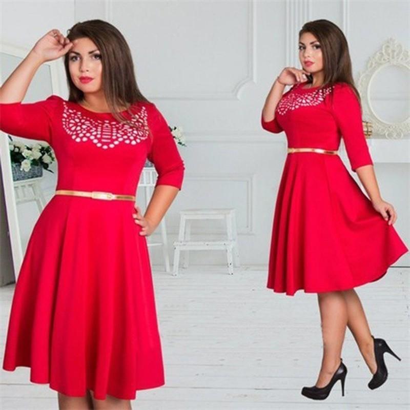Plus Size A-Line Vintage Elegant Dress