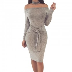 Elegant Off Shoulder Pencil Dress