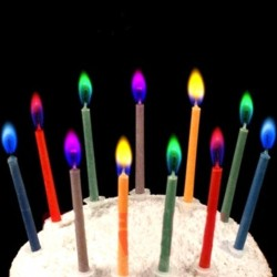 Colorful flame - candles for a birthday cake 6 pieces