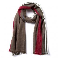 Striped Winter Scarf Soft Shawl