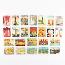 New York themes - fridge magnets - 24 pieces