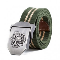 Russian Emblem Canvas Belt Unisex