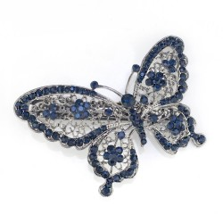 Blue Crystal Butterfly Hair Clip Hairpin