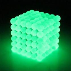 5mm Neodymium spheres magnetic balls 216 pcs Glow in the Dark