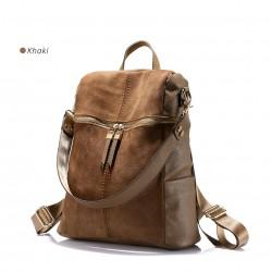 Vintage Leather Shoulder Bag Backpack