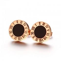 Roman numerals letters stud earrings