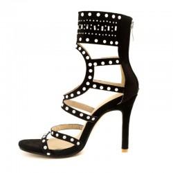 High heel ankle sandals