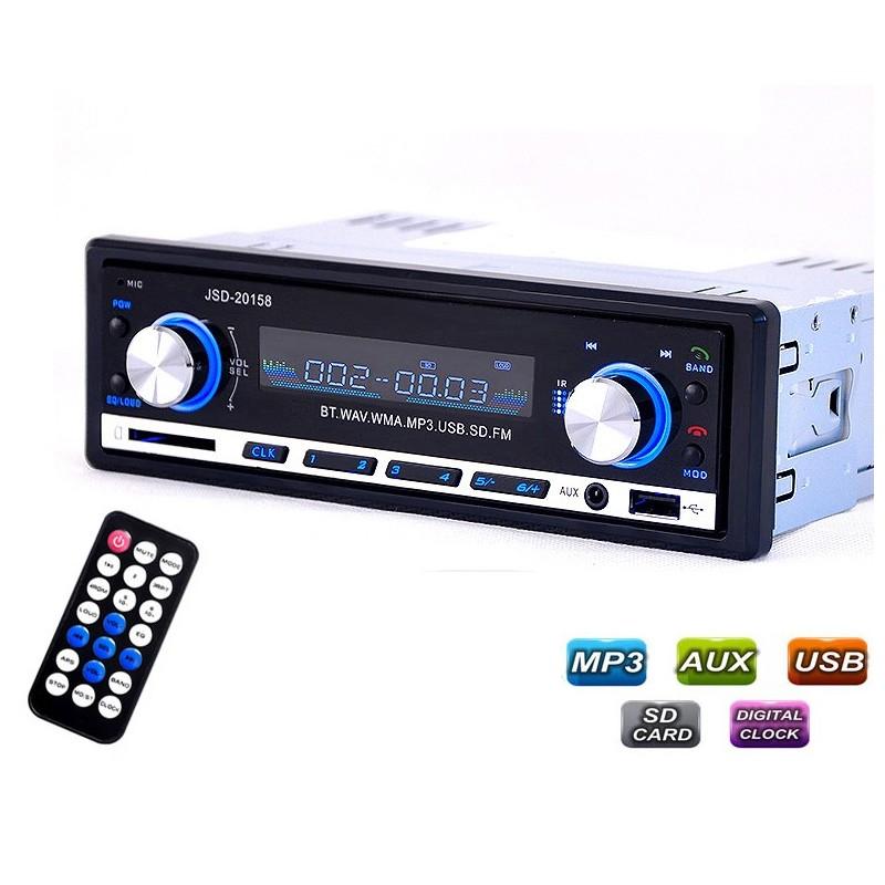 Bluetooth car radio - stereo audio - MP3 player - USB - 4 * 60W