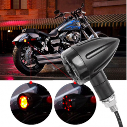 LED motorcycle brake & turn signal lights indicators 2 pcs