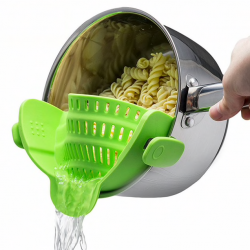 Pot & pan & bowl silicone funnel strainer