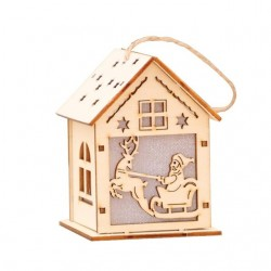 Wooden Christmas house with LED - do it yourself