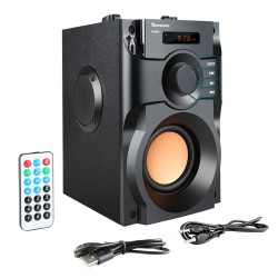 RS-A100 wireless bluetooth speaker with LCD display