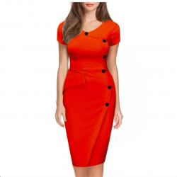 Plus size slim pencil dress