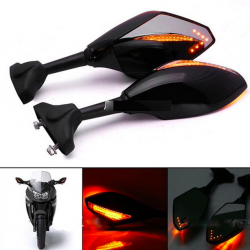 LED motorcycle turn signal light rearview mirrors for Yamaha Yzf Fzr 600 1000 R1 R6 FZ1 FZ6