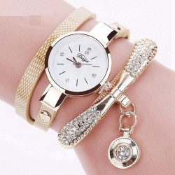 Vintage bracelet crystal quartz watch