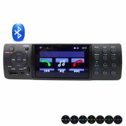 Car radio Din 1 - 4 inch display Bluetooth audio - MP3 - MP4 player USB 4*50W