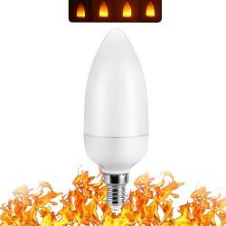 3W 5W 7W 9W E27 E26 E14 E12 85 - 265V LED flame fire effect light bulb