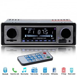 Bluetooth car radio din 1 - 12v FM MP3 USB SD AUX stereo audio