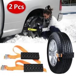 Emergency car tire anti-skid rubber chain 2 pcs