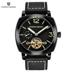 Pagani Design automatic waterproof watch with leather band