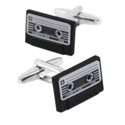 Retro cassette tape cufflinks