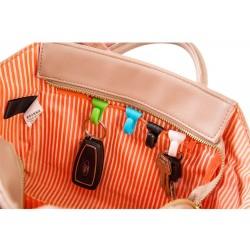 Mini bag clips - key holder hooks 2 pcs