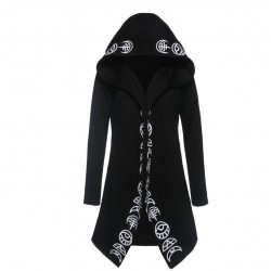 Gothic & Punk style - long sweatshirt - loose hoodie - cotton