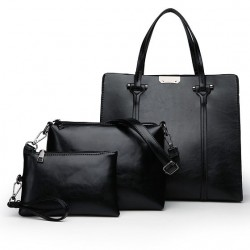 Elegant leather bags - 3 pcs set