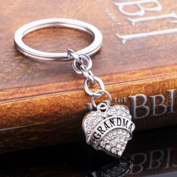 Mom & Daughter & Best Friend crystal heart - keychain