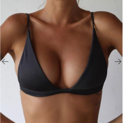 Sexy bikini bra with push up