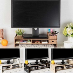Multi-function desktop - TV & computer stand - wooden shelf