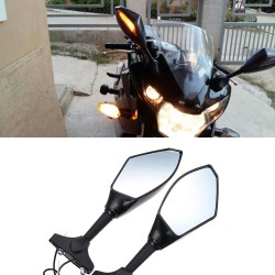 Motorcycle rearview mirrors - Led turn signals lights for Kawasaki 2 pcs
