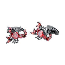 Red zircons scorpion - cufflinks