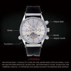 Luxury tourbillon automatic mechanical watch